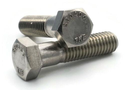 Stainless Steel Hex Cap Screw Bolt Partial Thread 1//4-20 x 2-3//4 100//PCS