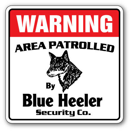 PP2397 WARNING AREA PATROLLED BY BLOODHOUND Plate Chic Sign Home Store Decor