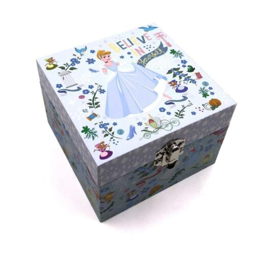 GIRLS CHILDRENS CINDERELLA MUSICAL JEWELLERY BOX TRINKET KEEPSAKE DI310