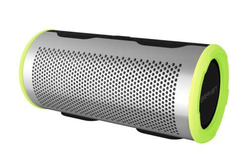 Silver//Green Waterproof Wireless Bluetooth Speaker Braven Stryde 360