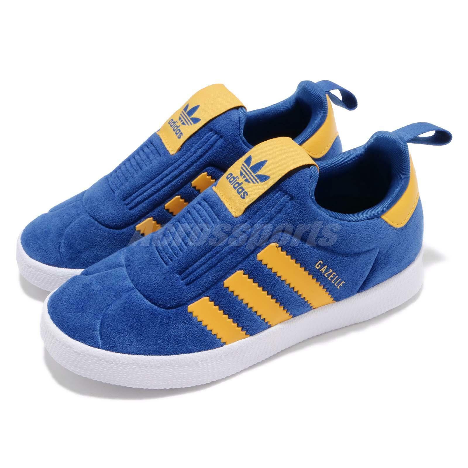 26d9df5f784ee Adidas Originals Gazelle 360 I Royal blueeeeeeeee Yellow TD Toddler Infant  shoes CG6594