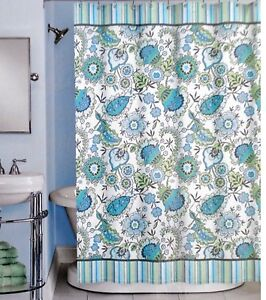 Image Is Loading Peri HENLEY Cotton Fabric Shower Curtain Floral Pattern