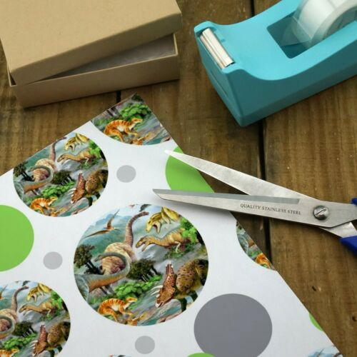 Dinosaur Jurassic Dinoscape Premium Gift Wrap Wrapping Paper Roll