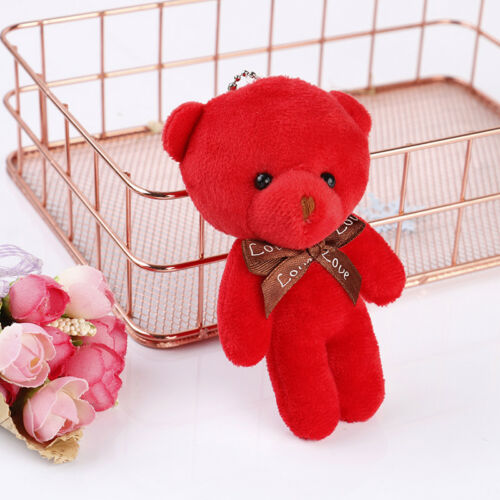 Mini plush bear stuffed cartoon animal cute key chain pendant soft toy Pip HF