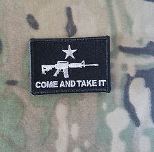Morale Patch Special Ops Gear - COME and TAKE IT- Nylon - SWAT - NEW