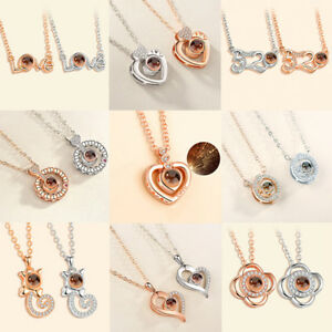 New Mom Child Heart Pendant Chain Family Love Necklace Mother/'s Day JewelryFBDC