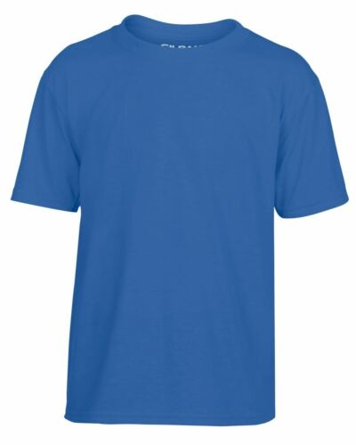 Gildan Childrens Youth Performance Plain Rounded Neck T-Shirts