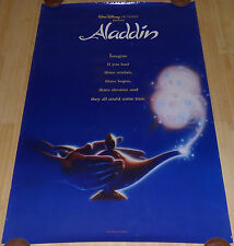 WALT DISNEY ALADDIN 1992 ORIGINAL ROLLED DS 1 SHEET MOVIE POSTER ROBIN WILLIAMS