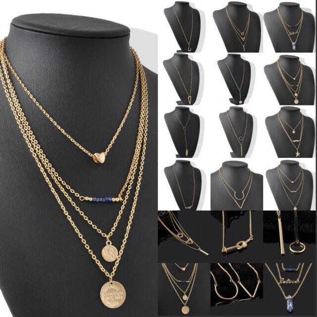 OL Fashion Woman Infinity Gold Cute Choker Charms Long Chain Pendant Necklace