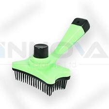 Pet Dog Cat Hair Fur Shedding Trimmer Grooming Rake Comb Brush Tool Green