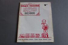 W945 BABY TRAINS train catalogue Ho tarif prix magasin 1970 74 pages 27x21,2cm