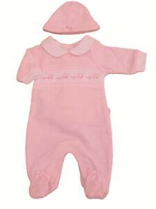 BNWT Baby Boys Premature prem preemie tiny  sleepsuit /& hat Baby grow clothes