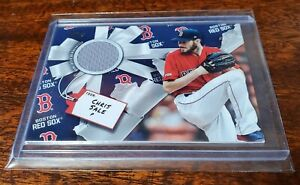 CHRIS SALE RELIC GAME USED JERSEY 2019 TOPPS HOLIDAY MEGA #WHR-CSA RED SOX!