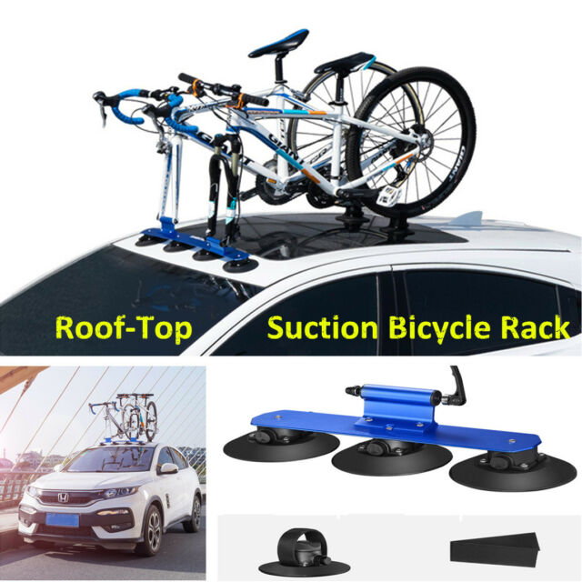 1x Bicycle Rack Roof-Top Suction Bike Car Rack Stand Carrier For MTB Road Bikes