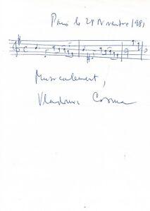 Vladimir-COSMA-Dedicace-autographe-signee-avec-portee-musicale-La-Boum