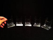 Display stands/Lot de 5 Presentoirs L pour Fossiles, Minéraux, DVD, TOP QUALITY!