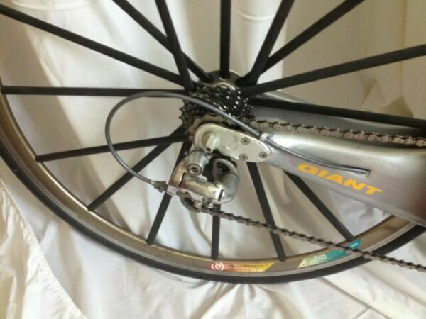 MIKE BURROWS FOR GIANT TCR REAR WHEEL CARBON SPOKE SPOKES NON DRIVE SIDE
