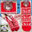 HOT Scandinavian SOCKS COTTON Christmas /& Winter,Teddy Bear RED White-Women