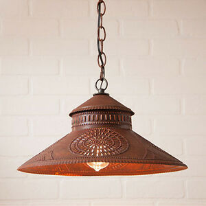 Details About Irvins Country Tinware Keeper Kitchen Pendant Shade Light In Rustic Tin