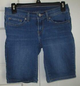9917c271 Levi's denim blue jean Bermuda midi shorts misses size 24 10