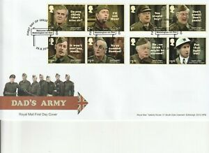2018  DADS ARMY    FDC  FIRST DAY COVER   SUPERB