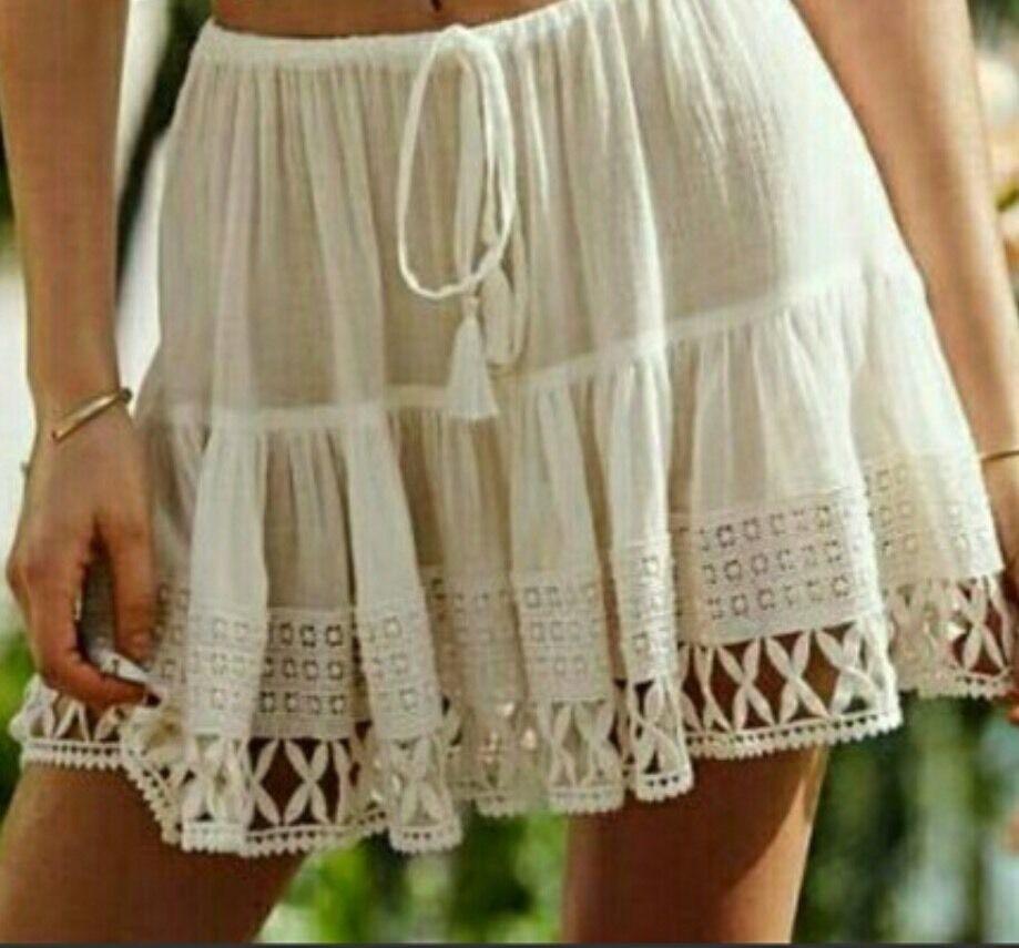 Victorias Secret VS Crochet-trim Cover-up Mini Skirt Skirt Skirt Size Small RARE NWT a6b54d