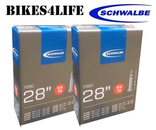 SCHWALBE SV15  700 X 25C  BIKE INNER TUBE 40mm PRESTA VALVE QUANTITY RATE