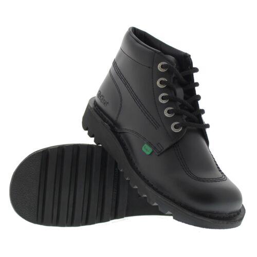 cordones Zapatos altos Negro Kick M Botines Para Kickers Formal cuero de hombre con Core Hi q8xOaA