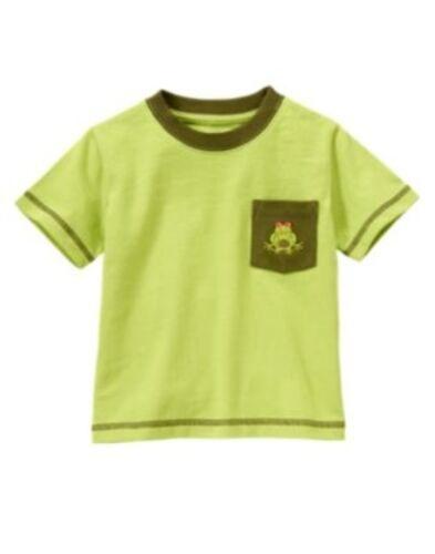 GYMBOREE JUNGLE EXPLORER GREEN FROG POCKET S//S TEE 3 6 12 18 24 2T 4T 5T NWT