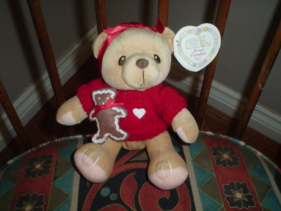Cherished Teddies Cookie Teddy Bear Retirosso Enesco 1999