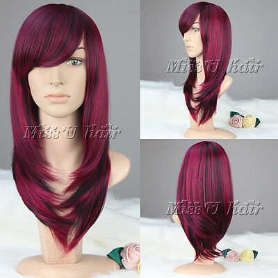 """24""""(60cm) Women Long Straight/Wavy Mixed Color Wig Synthetic Party/Daily wigs"""