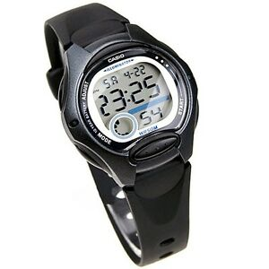 b2ba14c4953f Image is loading Casio-Women-039-s-Black-Resin-Watch-Alarm-