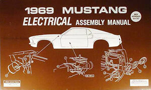 1969 ford mustang electrical assembly manual wiring diagrams 69 rh ebay com 2000 Ford Mustang Wiring Diagram 2000 Ford Mustang Wiring Diagram