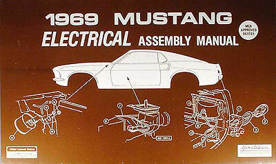 1969 Ford Mustang Electrical Assembly Manual Wiring Diagrams 69 Grande Mach I Ebay