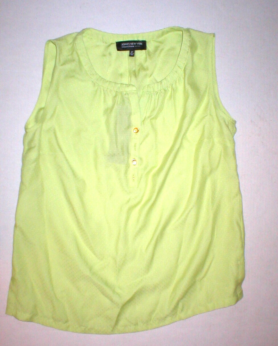 New damen NWT Jones New York Blouse Grün Sorbet Lime 6P 6 Petite Sleeveless