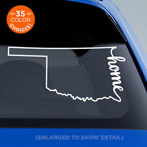 Oklahoma-State-034-Home-034-Decal-OK-Home-Car-Vinyl-Sticker-add-heart-over-any-city