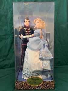 Disney-Cinderella-and-Prince-Charming-Doll-Set-Fairytale-Designer-LE-6000-Store