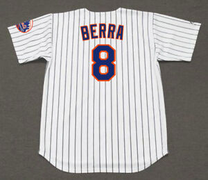 brand new b7c2a cc99f Details about YOGI BERRA New York Mets 1965 Majestic Cooperstown Home  Baseball Jersey