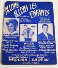 Partition vintage sheet music COLETTE DEREAL : Allons Allons les Enfants * 60's