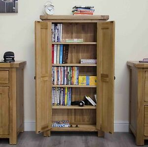 original rustic solid oak furniture cd dvd storage cabinet cupboard rh ebay co uk