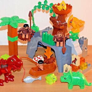 Lego duplo dino valley dinosaurs world cavemen t rex jurassic park set 5598 ebay - Jeux lego dino ...