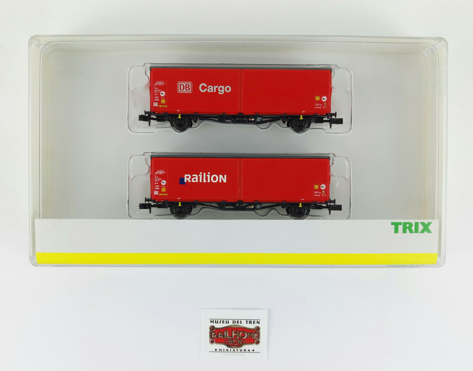 Minitrix n 15293-set two carriages goods DB  Cargo railion  - ovp-top
