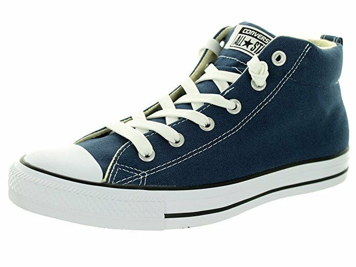 Converse CT 149547F Street Canvas Navy bleu blanc Mid Top Chaussures hommes femmes Chaussures Top 79d02b
