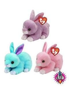 TY BEANIE BOO BABIES PLUSH SOFT TOY EASTER 2017 BUNNY WALKER DASH ... 45b571be337