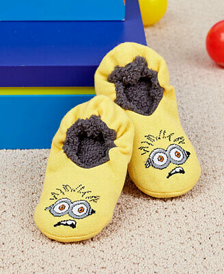 NEW Girls Boys Despicable Me 3 Minions Cosy Shoe Liner Socks Pack Of 3