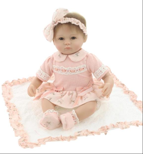 18  in silicone morbido vinile dall'aspetto reale Bambole Reborn Bambina Regalo Di Compleanno Natale