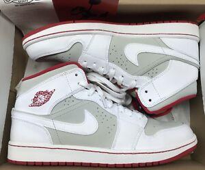sale retailer c695f d9d4d Image is loading Jordan-Retro-1-Mid-WB-Hare-White-Red-