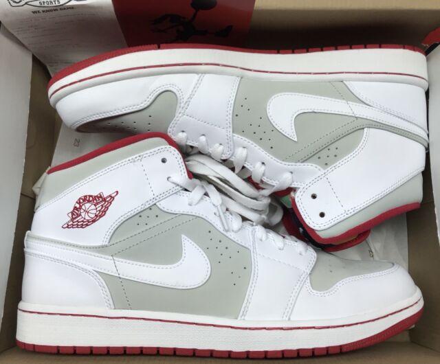 77cef3c1e79 Jordan Retro 1 Mid WB Hare White Red Silver Grey 7 VII 719551-123 Bugs