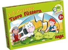 1,2 Puzzelei Tiere füttern 7467 Puzzle HABA  Legepuzzle ab 2 Jahre