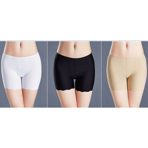 Seamless Stretch Bike Shorts Solid Colors Spandex Basic Plain Tight Pants S